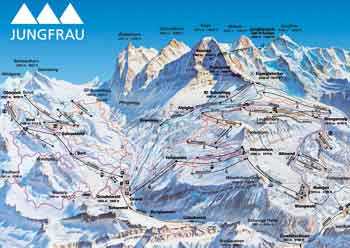 Pistenplan Grindelwald-Wengen