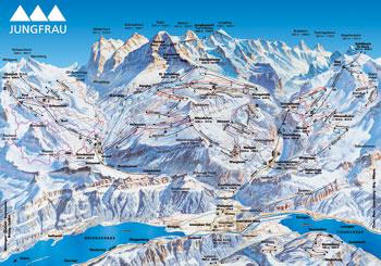 Pistenplan Jungfrauregion