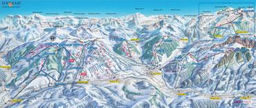 Pistenplan Gstaad Mountain Rides