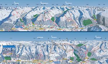 Pistenplan Davos Klosters