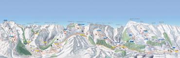Pistenplan Skiarena Andermatt-Sedrun-Disentis