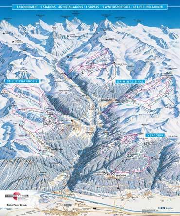 Pistenplan Val d''Anniviers