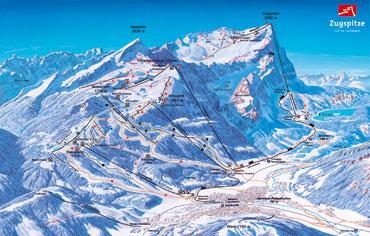 Pistenplan Garmisch-Partenkirchen