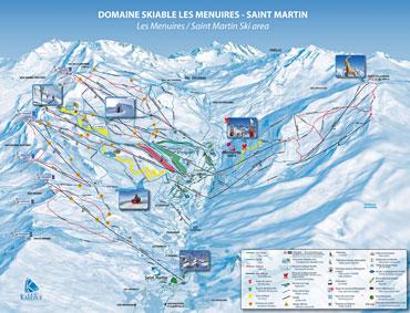 Pistenplan Les Menuires/Saint-Martin
