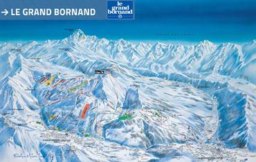 Pistenplan Le Grand Bornand