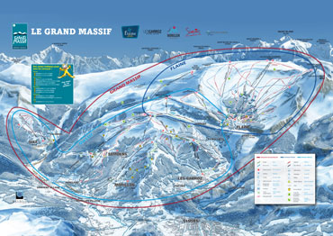 Pistenplan Le Grand Massif
