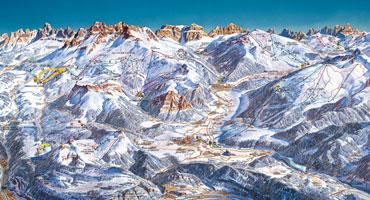 Pistenplan Alpe Cermis - Cavalese