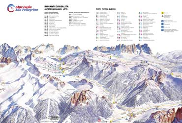 Pistenplan Alpe Lusia
