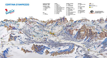 Pistenplan Cortina d''Ampezzo