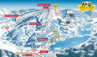 Pistenplan Gerlitzen Alpe