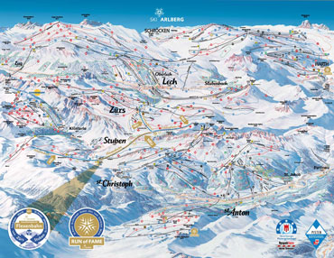 Pistenplan Arlberg