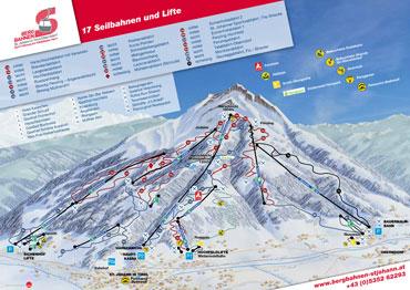 Pistenplan St.Johann in Tirol