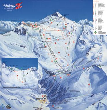 Pistenplan Hintertuxer Gletscher