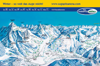 Pistenplan Tiroler Zugspitzarena