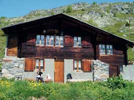 Hütte Lauchernalp